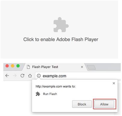 浏览器启动flash插件