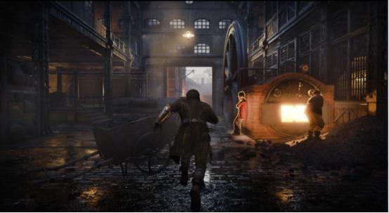 主角在游戏中奔跑